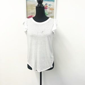 Chasor White Tee. Small.